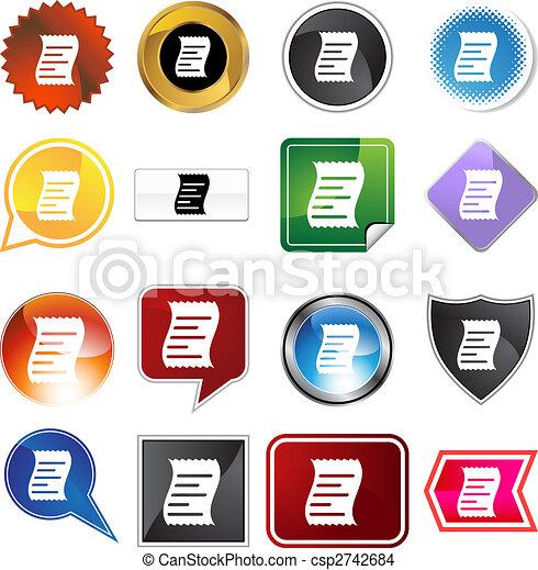 Receipt Icon Set - csp2742684