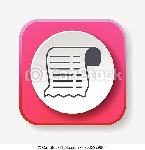 Receipt icon - csp33979904
