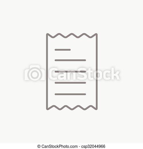 Receipt line icon. - csp32044966