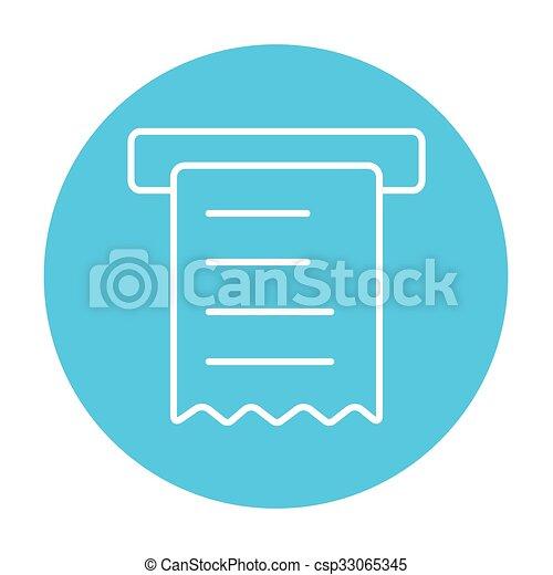 Receipt line icon. - csp33065345