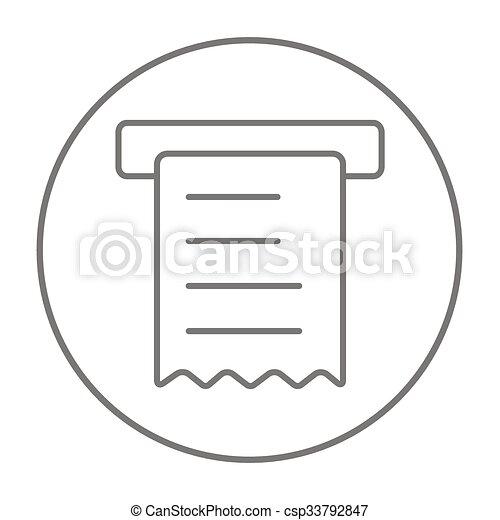 Receipt line icon. - csp33792847