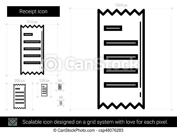 Receipt line icon. - csp48076283