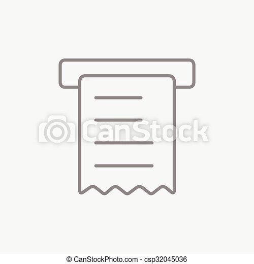 Receipt line icon. - csp32045036