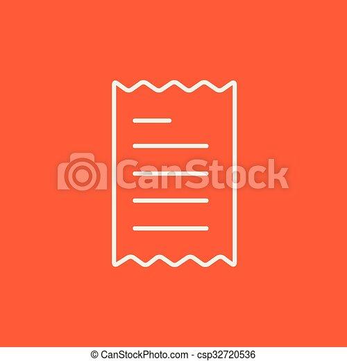 Receipt line icon. - csp32720536
