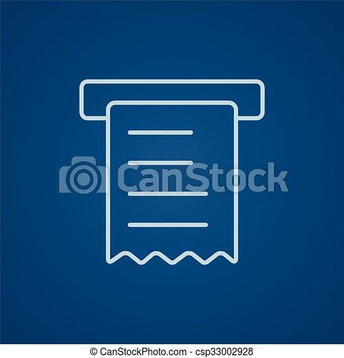 Receipt line icon. - csp33002928