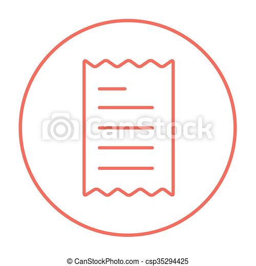 Receipt line icon. - csp35294425
