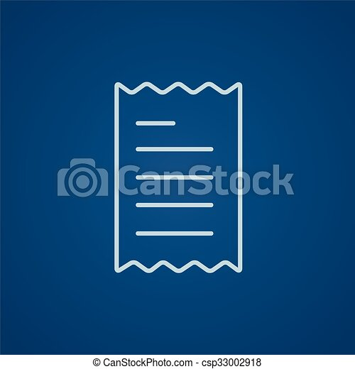 Receipt line icon. - csp33002918