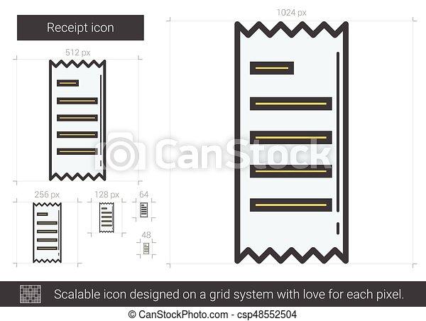 Receipt line icon. - csp48552504