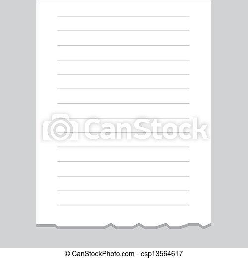 Receipt Printout Blank  - csp13564617