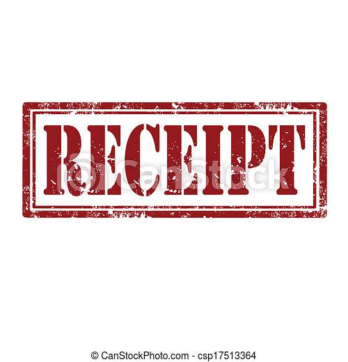 receipt stamp grunge rubber stamp with word receipt vector