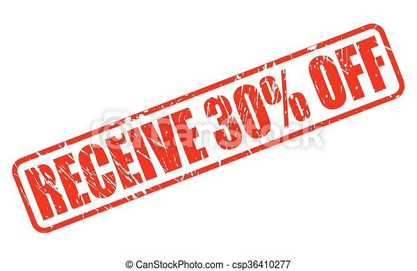 cbfbbebc5 RECEIVE 30% OFF red stamp text - csp36410277