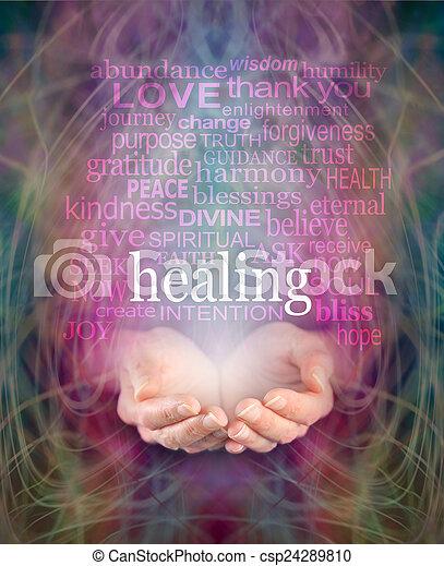 Receiving healing - csp24289810