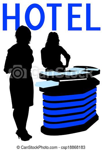 Recepción en el hotel - csp18868183
