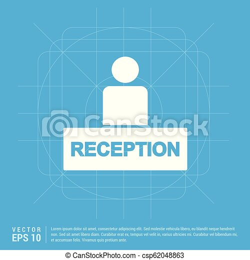 icono de recepción del hotel - csp62048863