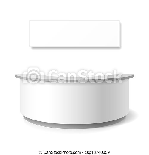 Recepción, mostrador de exhibición - csp18740059