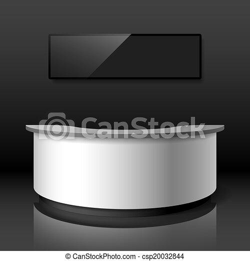 Recepción, mostrador de exhibición - csp20032844