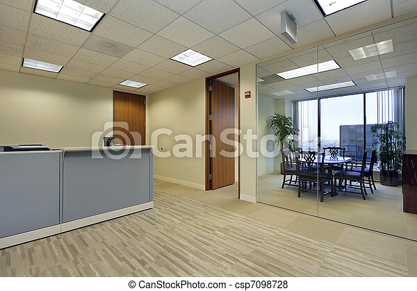 Reception area in office - csp7098728