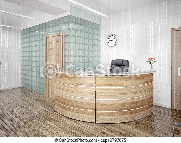 reception area - csp12797875