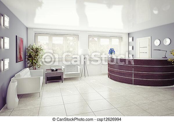 reception area - csp12626994