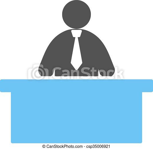 receptionist - csp35006921