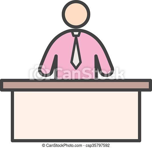 receptionist - csp35797592