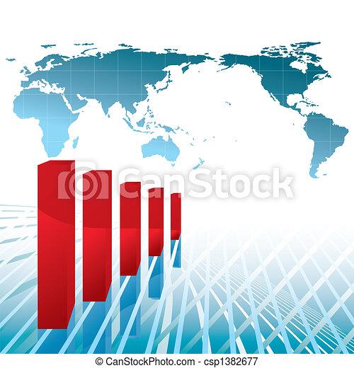 La recesión económica mundial - csp1382677