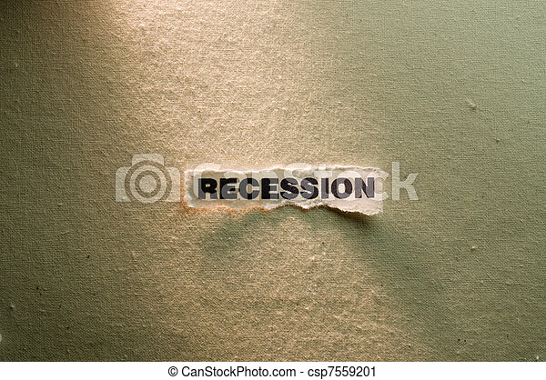 Recession - csp7559201