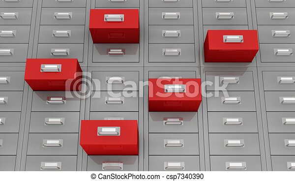 recherche, données - csp7340390