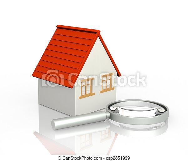 recherche, maison - csp2851939