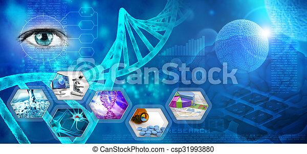 recherche, monde médical, pharmaceutique - csp31993880