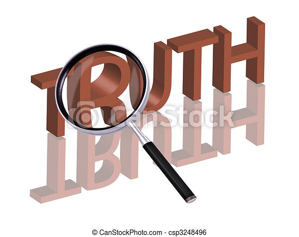 recherche, vérité - csp3248496