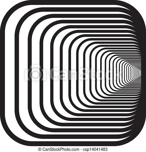 rechts, afgerond, tunnel, hoeken, hand, perspectief, achtergrond - csp14041483