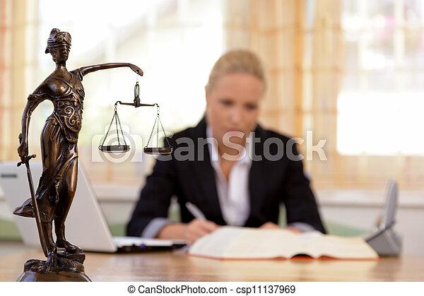 Anwalt im Büro - csp11137969