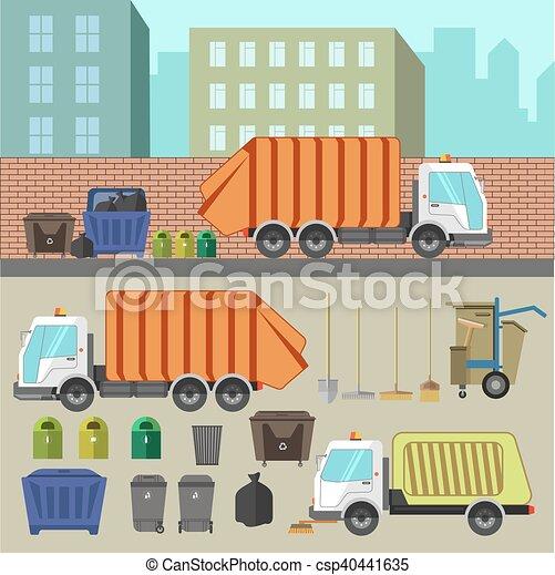 Reciclagem Lixo Removal Jogo Caminhoes Lixo Latas Sorting
