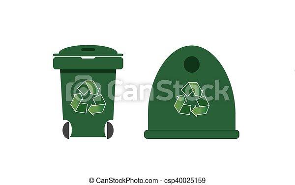 Reciclando contenedores - csp40025159