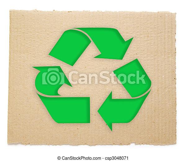 Simbolo de reciclaje - csp3048071