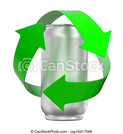 Reciclaje lata can trayectoria recorte reciclaje - Simbolo de aluminio ...