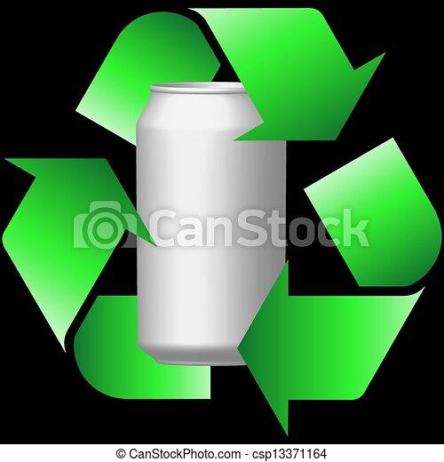 Latas de reciclaje - csp13371164