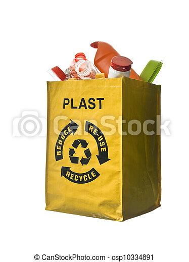 Reciclaje plástico - csp10334891