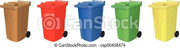 Reciclando cubos de basura - csp50408474