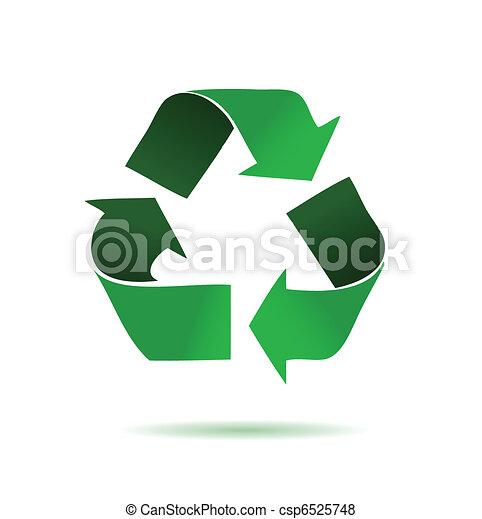 reciclaje, verde - csp6525748