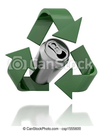 Reciclar el s mbolo lata render 3d - Simbolo de aluminio ...