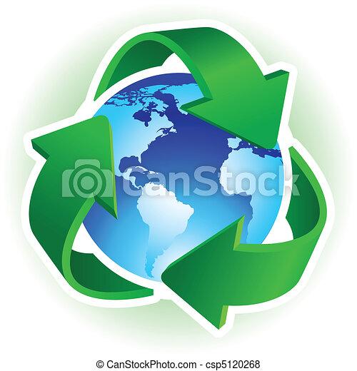 El símbolo de reciclaje - csp5120268