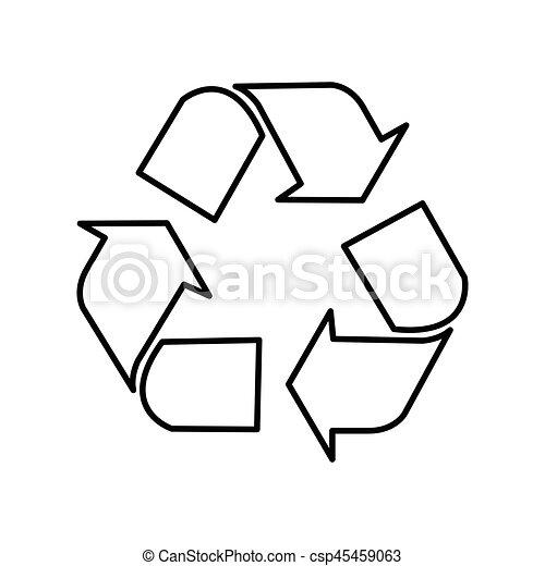 Simbolo de reciclaje, símbolo de reciclaje, vector - csp45459063