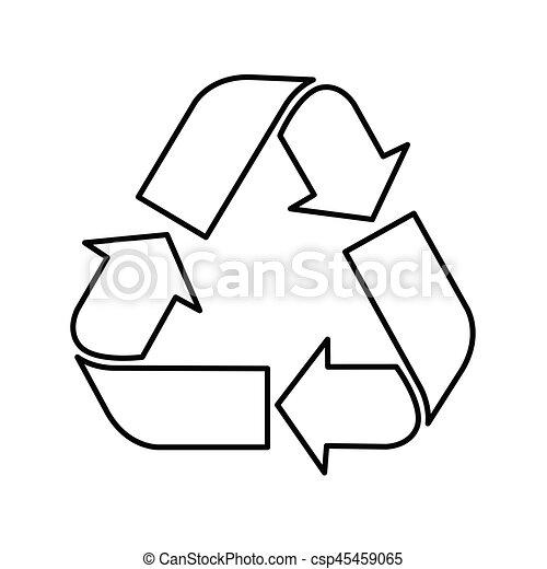 Simbolo de reciclaje, símbolo de reciclaje, vector - csp45459065
