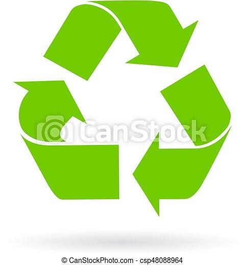 El símbolo vector reciclado - csp48088964