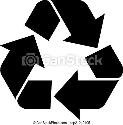 El símbolo de reciclaje de vectores - csp21212405