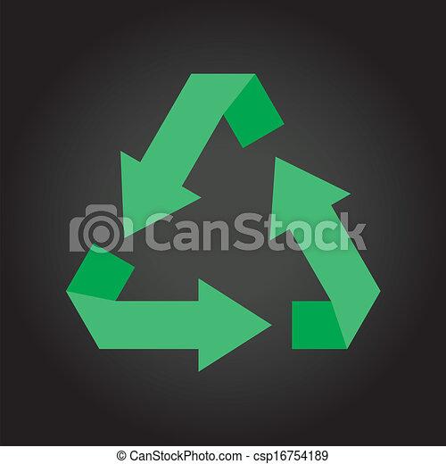 Vector de símbolo reciclado - csp16754189