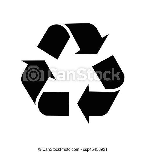 Simbolo de reciclaje, símbolo de reciclaje, vector - csp45458921