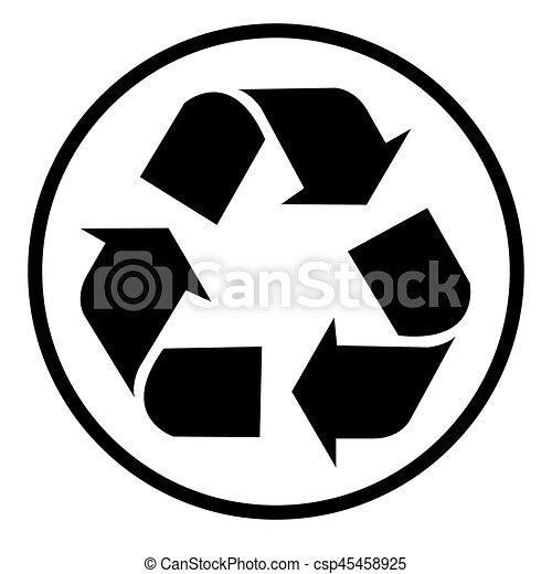 Simbolo de reciclaje, símbolo de reciclaje, vector - csp45458925